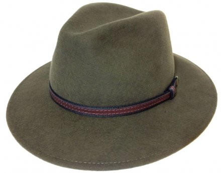 Kapelusze - Faustmann Lavello Pinch Crown (khaki)