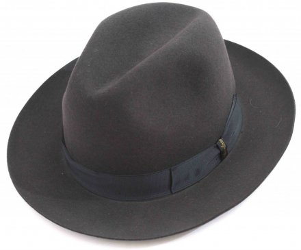 Kapelusze - Borsalino Marengo Wide Brim Fedora (grey with blue band)