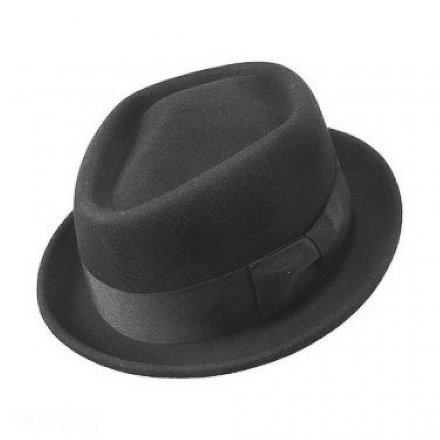 Kapelusze - Diamond Crown Pork Pie Hat (czarny)