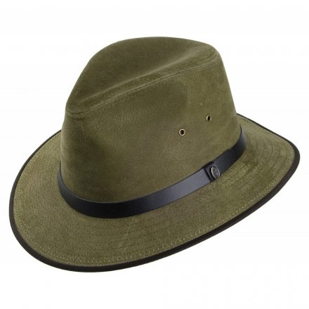 Kapelusze - Nubuck Leather Safari Fedora (olive)