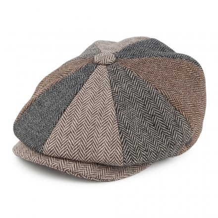 Kaszkiet - Jaxon Herringbone Patch Newsboy Cap (multi)