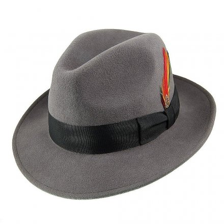 Kapelusze - Crushable Pinch Crown Fedora (szary)