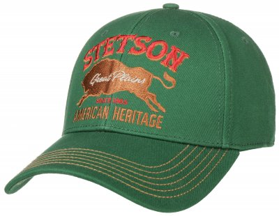 Caps - Stetson Baseball Cap Great Plains (zielony)