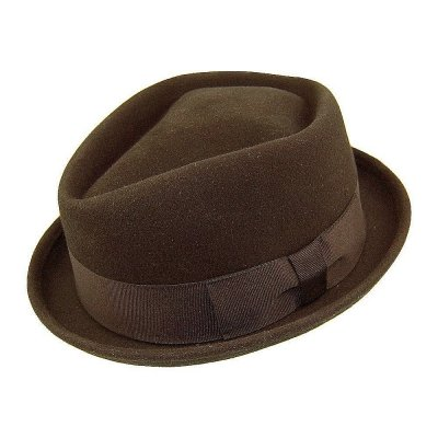 Kapelusze - Diamond Crown Pork Pie Hat (brązowy)