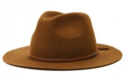 Kapelusze - Brixton Wesley Packable Fedora (coffee)