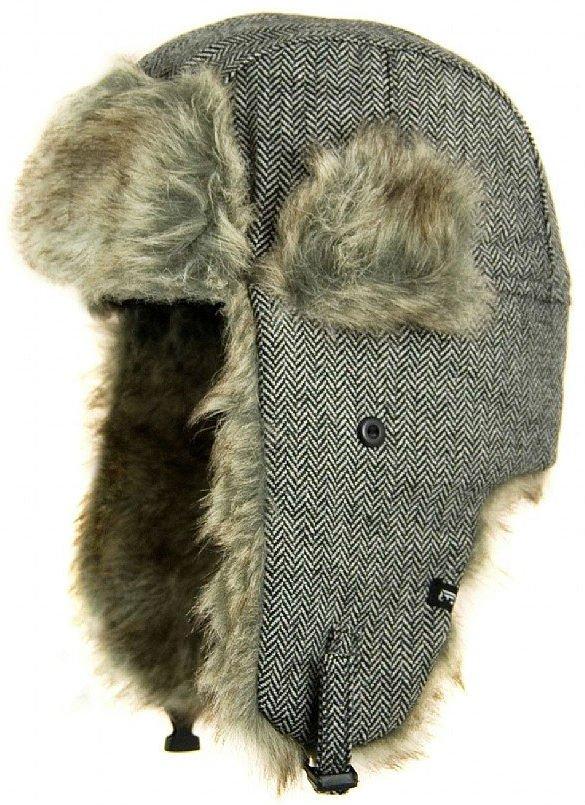 e57254bba15 Trapper hat - Jaxon Herringbone Trapper (szary)